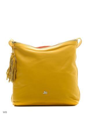 Сумка Jacky&Celine. Цвет: горчичный, оранжевый