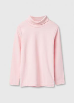 Водолазка для девочек OSTIN. Цвет: светло-розовый