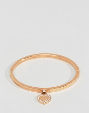 Michael Kors Браслет цвета розового золота с сердечком. Цвет: золотой