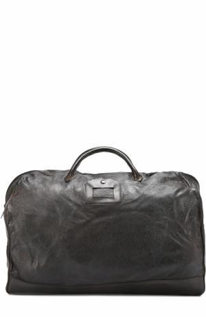 Кожаная дорожная сумка с эффектом крэш Numero 10. Цвет: черный