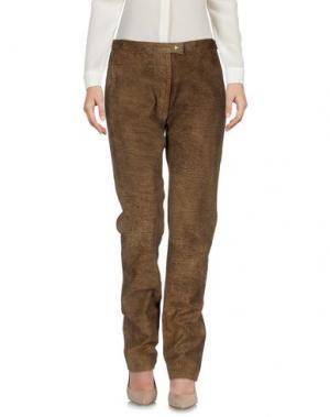 Повседневные брюки BORBONESE. Цвет: хаки