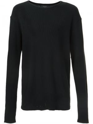 Утепленная футболка с длинными рукавами Shotgun Amiri. Цвет: чёрный
