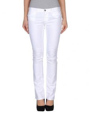 Джинсовые брюки M.GRIFONI DENIM. Цвет: белый