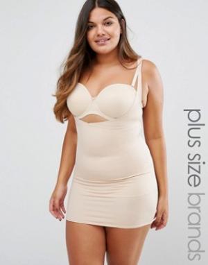 Yours Платье-комбинация Clothing Wear Your Own Bra. Цвет: бежевый