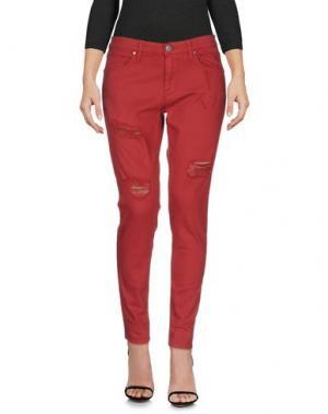 Джинсовые брюки GAëLLE Paris. Цвет: кирпично-красный