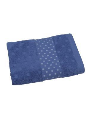 Полотенце махровое 80х140 Кеннет синий TOALLA. Цвет: синий