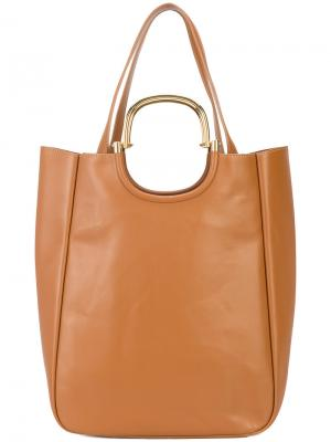 Большая сумка-тоут Derek Lam 10 Crosby. Цвет: коричневый