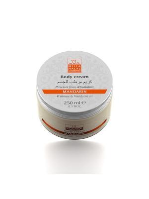 Крем для тела с маслами абрикосовой косточки и мандарина MANDARIN MILLA HALAL COSMETICS. Цвет: белый
