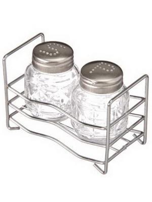 Набор для соли и перца KONONO. Цвет: серебристый