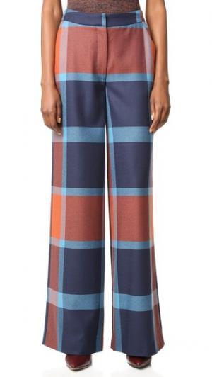 Клетчатые брюки Ashland Tanya Taylor. Цвет: ржавчина/королевский мульти