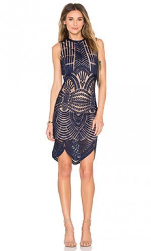 Платье divinity Bardot. Цвет: синий