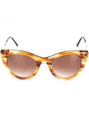Солнцезащитные очки Perky Thierry Lasry. Цвет: коричневый