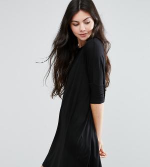ASOS Tall Платье-футболка. Цвет: черный