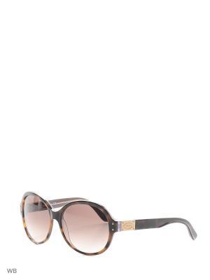 Солнцезащитные очки TO 0090 52F Tod's. Цвет: коричневый, золотистый