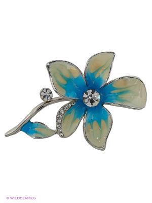 Брошь Lovely Jewelry. Цвет: голубой