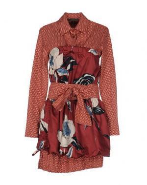 Короткое платье MARIAGRAZIA PANIZZI. Цвет: ржаво-коричневый