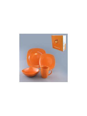 Набор столовый 4 пр. ОРАНЖ BESKO. Цвет: оранжевый