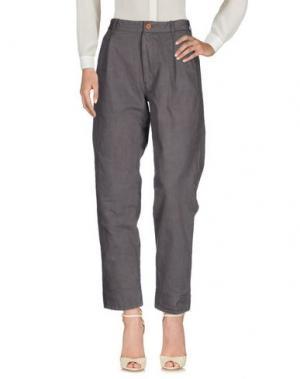 Повседневные брюки SUZUSAN. Цвет: голубиный серый