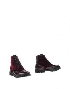 Полусапоги и высокие ботинки SETTANTATRE LR. Цвет: красно-коричневый