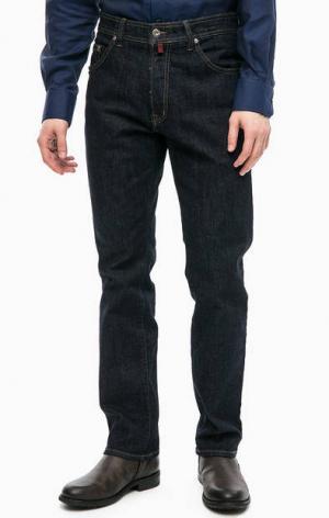 Зауженные джинсы с пятью карманами Pierre Cardin. Цвет: синий