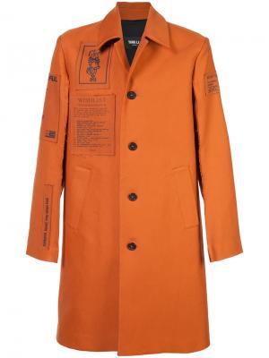 Однобортное пальто Yang Li. Цвет: жёлтый и оранжевый