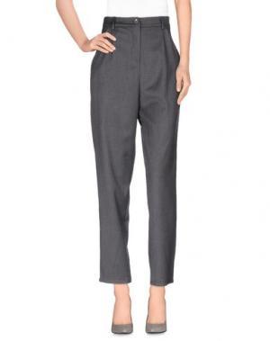 Повседневные брюки SOUVENIR. Цвет: свинцово-серый