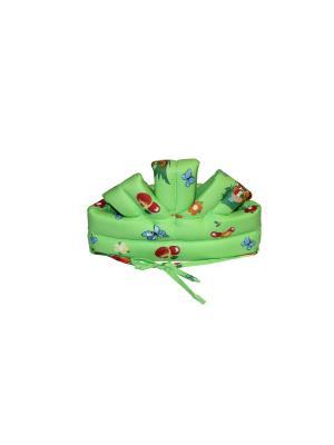 Противоударная шапка-шлем для детей  №2 44/2 Риббис. Цвет: зеленый