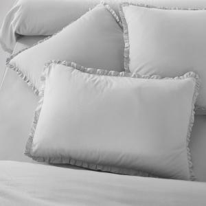 Наволочка Ondina, 40% льна La Redoute Interieurs. Цвет: светло-серый