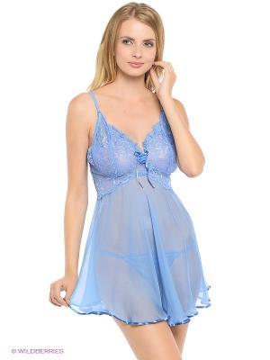 Комплект (сорочка ночная, трусы) Monti Liv'eri. Цвет: голубой