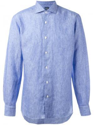 Рубашка на пуговицах Barba. Цвет: синий