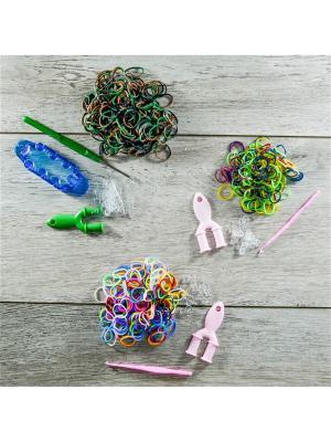 Подарочный набор резинок для плетения. 1000 Loom Bands. Цвет: прозрачный