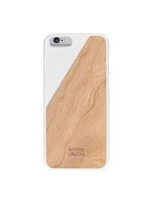 Чехол защитный для iPhone 6 , цвет : белое дерево, ClICWooden Native Union. Цвет: белый