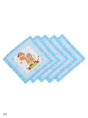 Набор платков носовых детских Римейн. Цвет: голубой