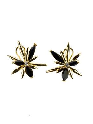 Серьги Bijoux Land. Цвет: золотистый, черный