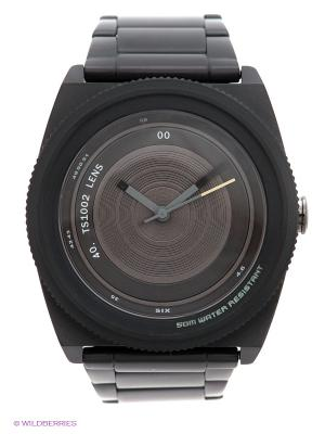 Часы TACS. Цвет: черный