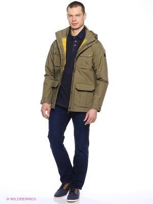 Куртка LIVINGSTONE JKT M Jack Wolfskin. Цвет: оливковый