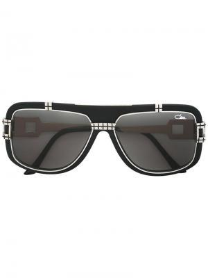 Солнцезащитные очки с квадратной оправой Cazal. Цвет: чёрный