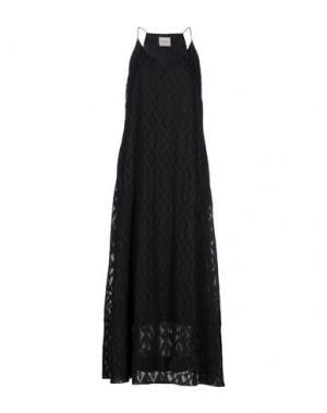 Платье длиной 3/4 CHARLI. Цвет: черный