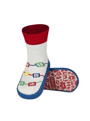 Тапочки-носочки Soxo. Цвет: синий, белый