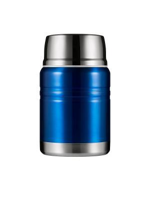 Термос для еды LUNCH SPOT, синий металлик, 500 мл WOODSURF. Цвет: синий