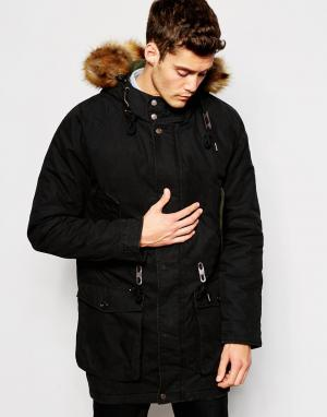Parka London Куртка. Цвет: черный
