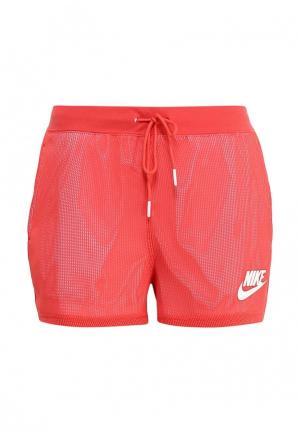 Шорты спортивные Nike. Цвет: коралловый