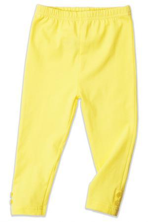 Брюки-леггинсы Me&We. Цвет: желтый