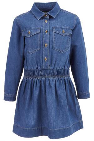 Платье Button Blue. Цвет: голубой