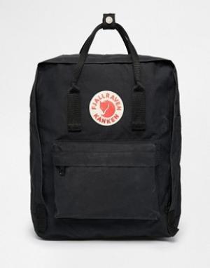 Fjallraven Классический черный рюкзак Kanken. Цвет: черный