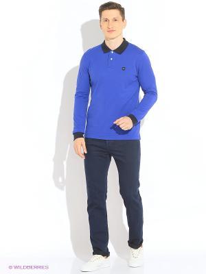 Лонгслив-поло Eden Park. Цвет: синий, голубой, темно-синий