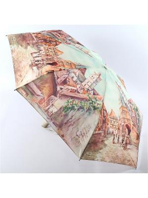 Зонт Zest. Цвет: бирюзовый, коричневый