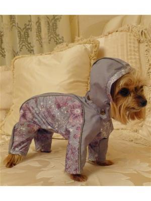 Дождевик для собак (унисекс) LUCKY DOG. Цвет: серый, лиловый