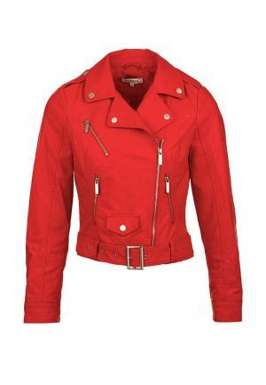 Куртка кожаная Morgan. Цвет: красный