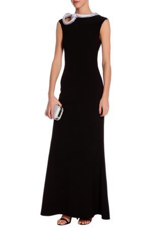Вечернее платье без рукавов Gloss. Цвет: черный, серебристо-серый